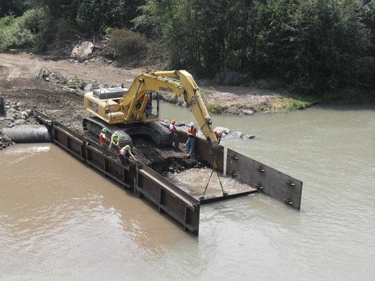 Water Diversion And Cofferdam Installations